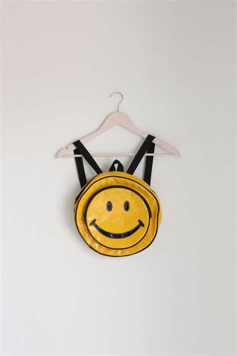 Smiley Backpack vtg smiley mini backpack