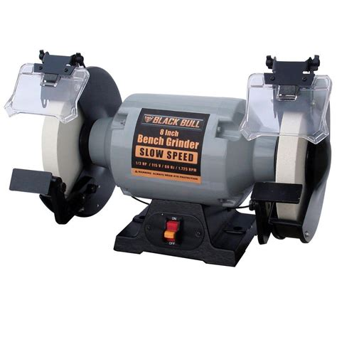 8 slow speed bench grinder black bull 115 volt 8 in slow speed bench grinder bg8ss