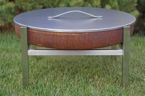 Steel Outdoor Pit Modern Outdoor Patio Rust Stainless Steel Pit