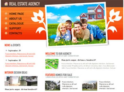 free css templates for online advertising agency real estate agency free website template free css