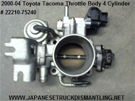toyota tacoma throttle valve body 4 cylinder 2 4l 2 7l