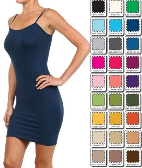 Tank Top Dress For by Cami Mini Dress Seamless Bodycon Tight Camisole