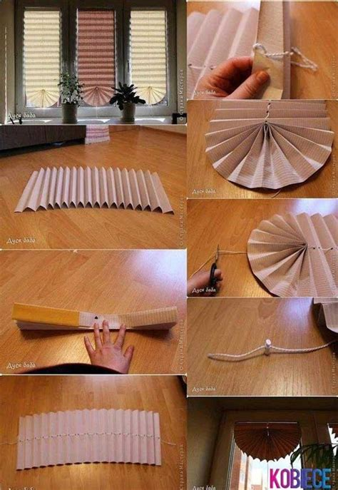 paper curtains diy 4 cheap and easy diy home decor ideas for better homes