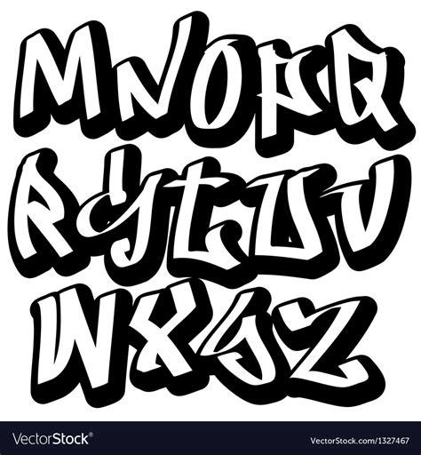 lettere stile graffiti graffiti font alphabet abc letters royalty free vector image