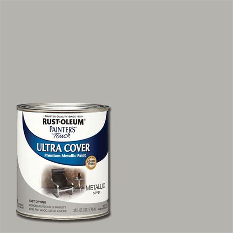rust oleum painter s touch 32 oz ultra cover metallic silver general purpose paint of 2