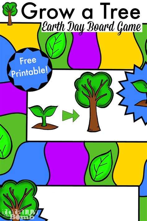printable nature board games free printable earth day board game