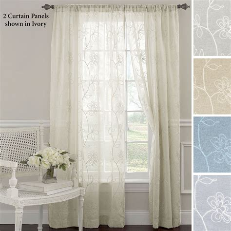 gossamer curtain laura ashley frosting embroidered sheer curtain panels