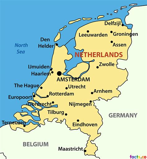 netherlands city map map  netherlands cities western
