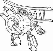 Grand Albert Of The Super Wings Coloring Pages