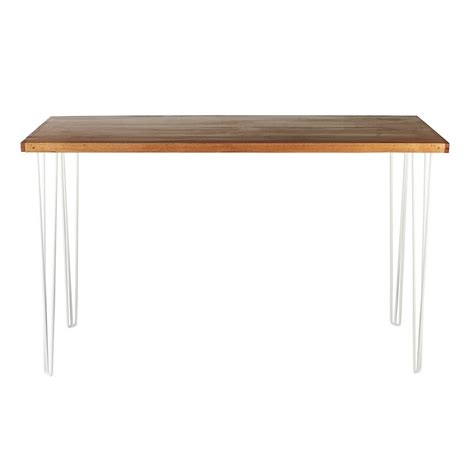 bar and bench bench bar table hairpin natural top white legs hire