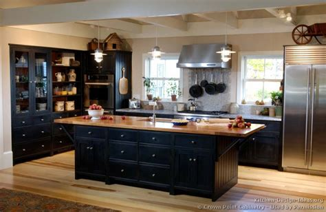 Black Cabinets In Kitchen Pictures Of Kitchens Traditional Black Kitchen Cabinets