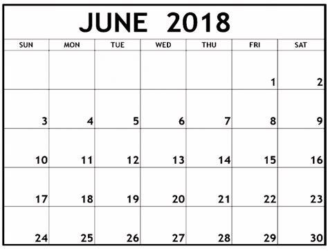 free printable blank calendar june 2018 blank june 2018 calendar printable