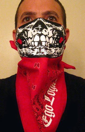 white skull ruby paisley bandana half mask