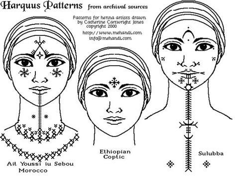 ethiopian tribal tattoos ink ink tatting and hennas