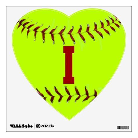 softball wall stickers i softball wall decal zazzle