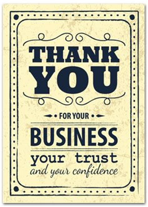 Thank You Cards For Business Customers