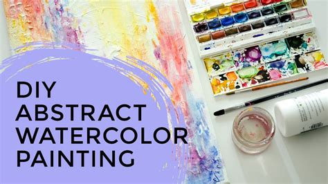 tutorial watercolor abstract diy abstract watercolor painting tutorial youtube