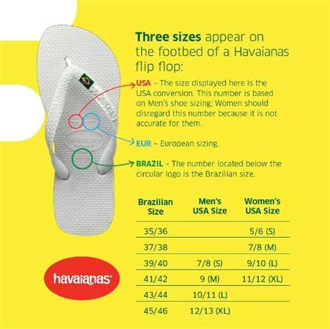 shoe size chart havaianas havaianas sizing free shipping returns shoebuy com