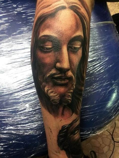 jesus face tattoos jesus http 16tattoo jesus