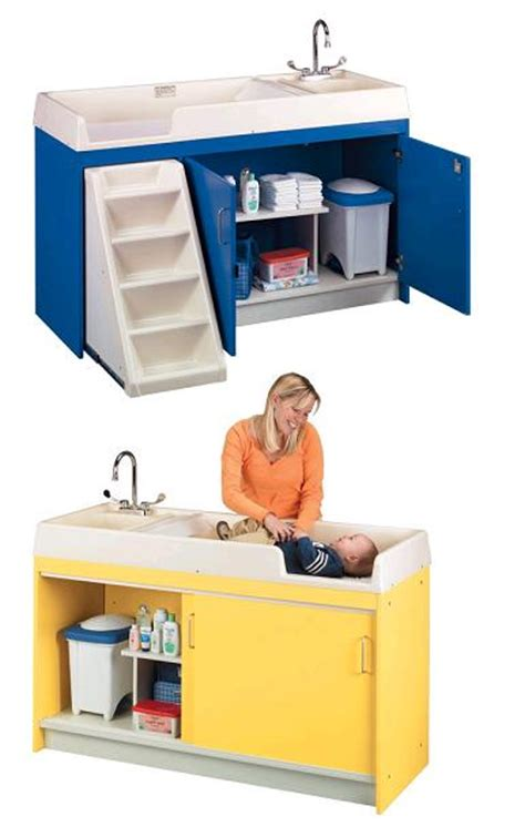 Daycare Changing Tables All Changing Table With Sink By Tot Mate Options Preschool Daycare Furniture Worthington