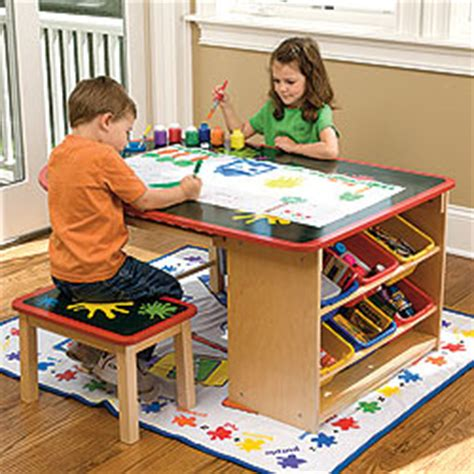 kids art table momma mia playroom organization ideas
