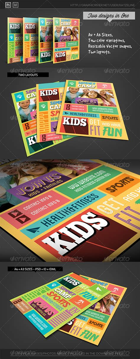 creative flyer design graphicriver kids fitness c flyer template graphicriver