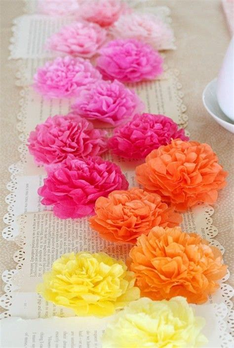 tissue paper flowers centerpiece art pinterest