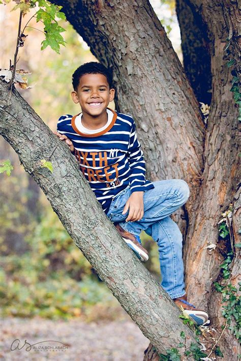 6 old boys photo of a cute 6 year old boy in a tree ardmore pa
