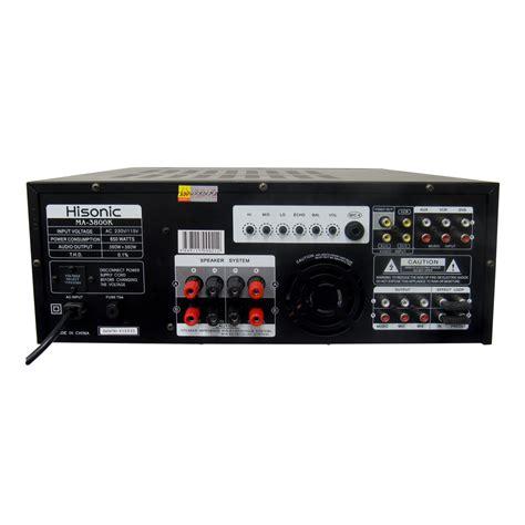 Karaoke Mixer Lifier Ma 1600 hisonic ma 3800k 760w karaoke mixing lifier
