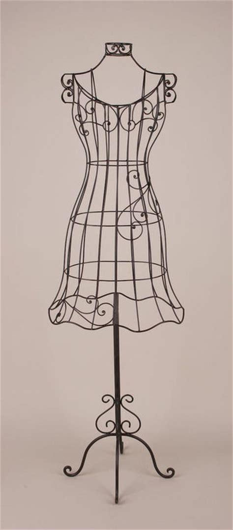 decorative dress form i wrought iron