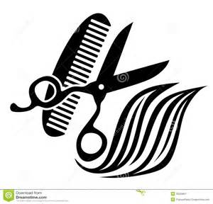 Hairdresser abstract illustration equipment used hairdressers clipart