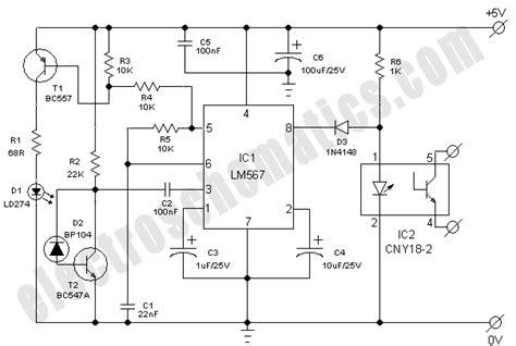 infrared model train detector circuit