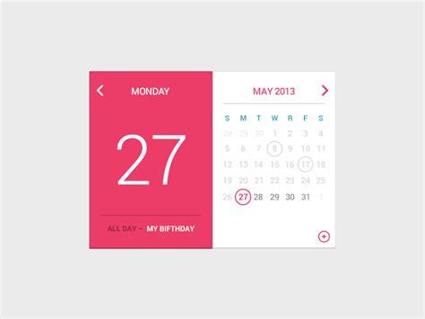 design calendar psd my birfday calendar by rebecca machamer dribbble