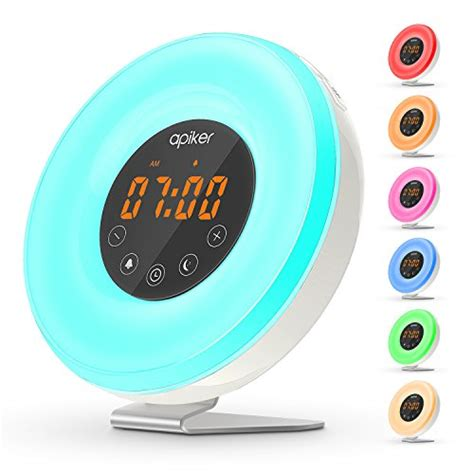 alarm clock that wakes you up with light up light alarm clock with simulation apiker