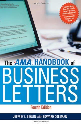 Handbook Of Business Letter Pdf ama handbook of business letters 4rth edition