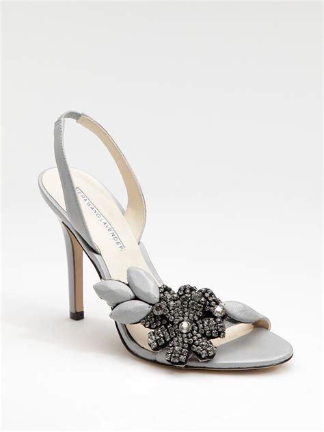 flower shoes vera wang lavender hemalia jeweled flower sandals in