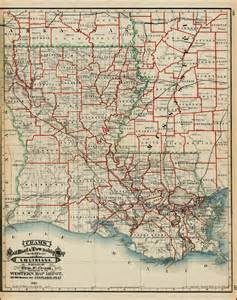 louisiana driving map cram s rail road township map of louisiana published by geo f cram proprietor of the western