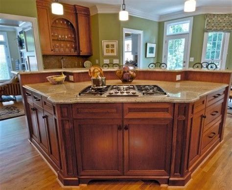 Curved Islands With Seating And Range Google Search Kitchen Island With Cooktop And Seating
