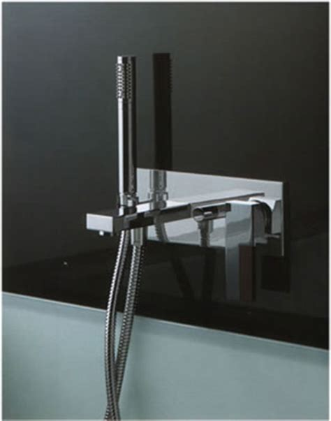 wall mounted bath taps with shower attachment fantini plano bathroom shower taps