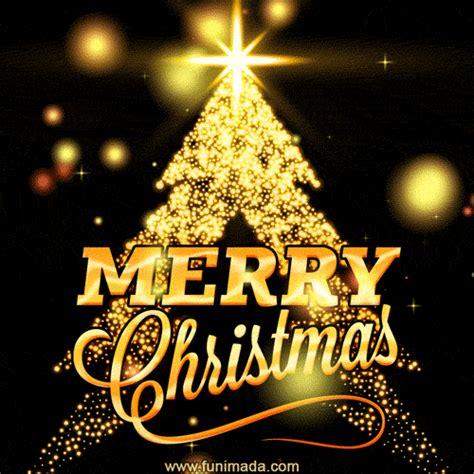 beautiful merry christmas animated gif christmas tree  gold sparcles   funimadacom