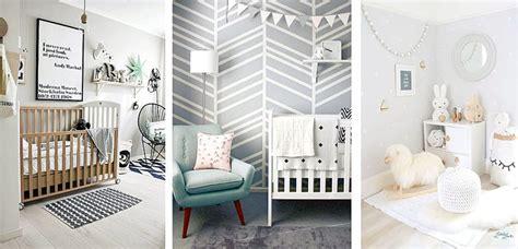 habitaciones de bebe  paredes grises