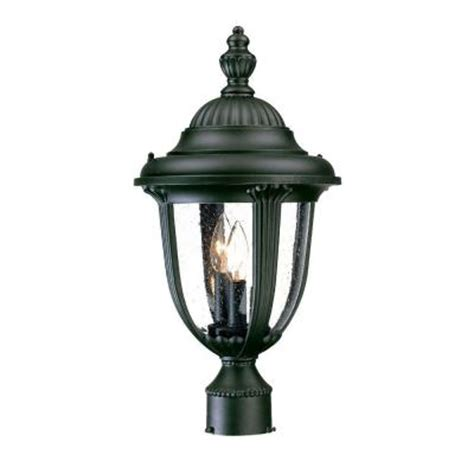 home depot outdoor post lighting acclaim lighting monterey collection post mount 3 light