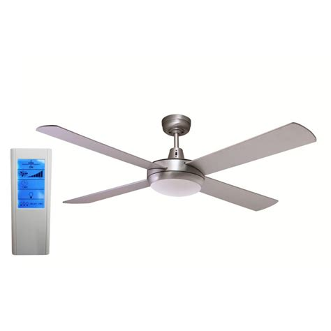 Led Light For Ceiling Fan Rotor 52 Inch Led Ceiling Fan Brushed Aluminum With 24w Led Light White Touch Pad Remote