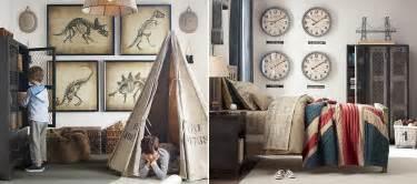 Neutral boys room decoration with playroom decor scheme and wall decor