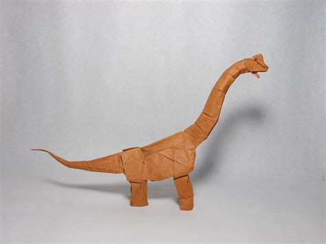 Origami Brachiosaurus - this week in origami autumn leaves edition