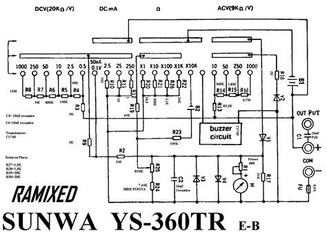 Multitester Sunwa Yx 360 solucionado esquema de multimetro sunwa yx 360tre yoreparo
