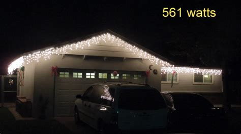 do icicle christmas lights use much power how much does it cost to light lights