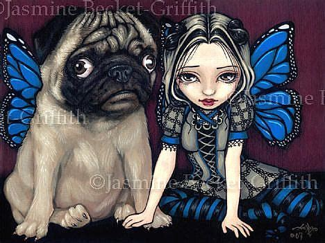 pug charity pug pixie charity auction by becket griffith from gallery