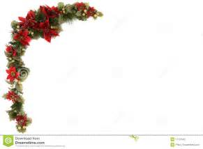 poinsettia and christmas decoration border stock