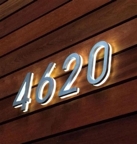 lighted house number sign 25 best ideas about illuminated house numbers on